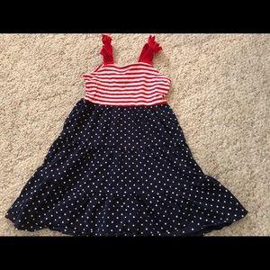 Patriotic sleeveless dress size 2t